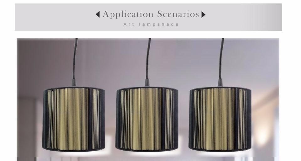 Ceiling Lights & Fans Foxanon Led Pendant Light E14 Lampshade Lamps Modern Lustre Wire Drawing Cloth Design Lamparas Colgantes For Home Decor Art