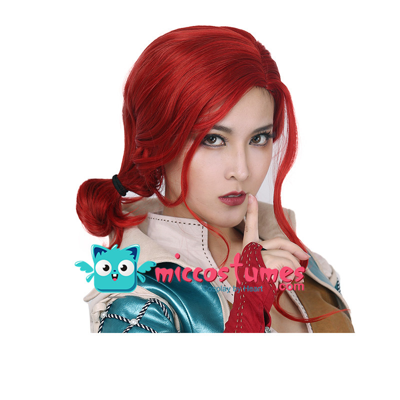 Synthetic Wig Wild Hunt Triss Merigold Cosplay Wig-in Game Costumes from Novelty & Special Use    1