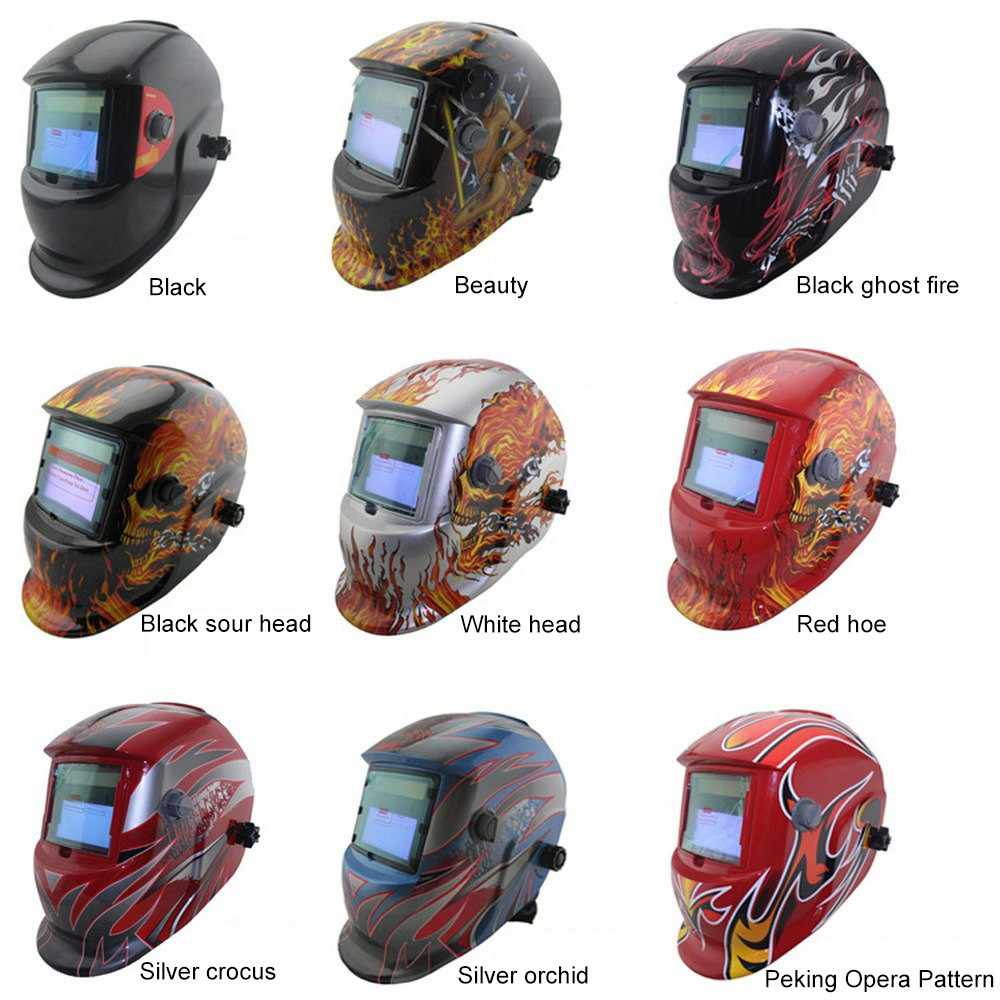 Welding Mask Big Solar Automatic View Darkening Adjustable MIG MMA Electric Welding Helmet Welding Lens for Welding Machine