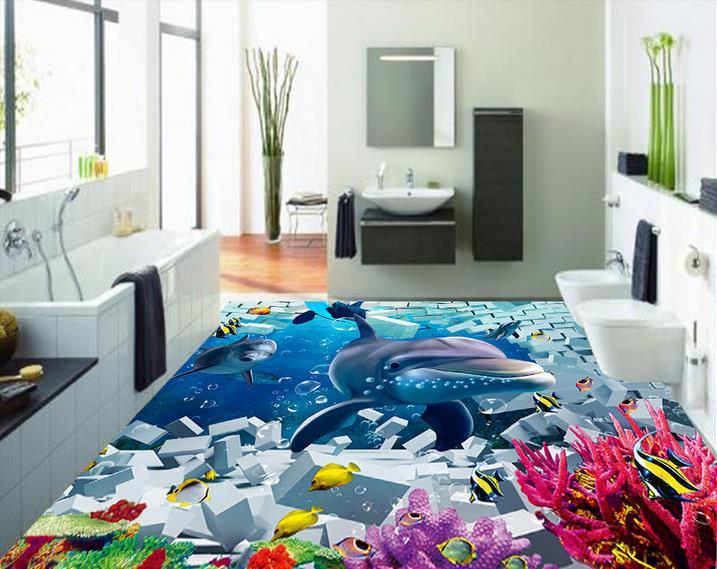 Kids Bedroom Vinyl Flooring self adhesive wallpaper custom 3d wallpaper floor kids bedroom