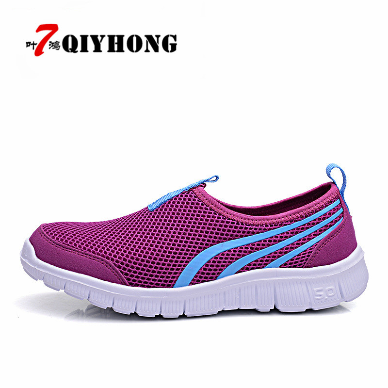 New Summer Women Shoes Fashion Solid Breathable Lovers Casual Shoes Loafers Woman Flats Plus Size 36-43 Slip-On Network Shoes 2017 summer new fashion sexy lace ladies flats shoes womens pointed toe shallow flats shoes black slip on casual loafers t033109