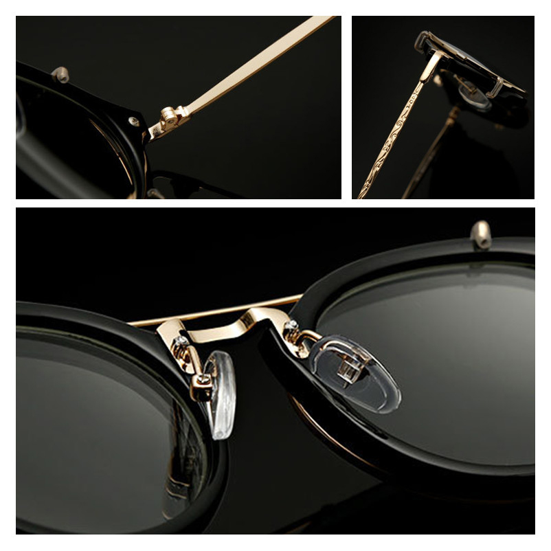 2017 Baru Kedatangan Vintage Steampunk Kacamata Cermin Kacamata Hitam - Aksesori pakaian - Foto 5