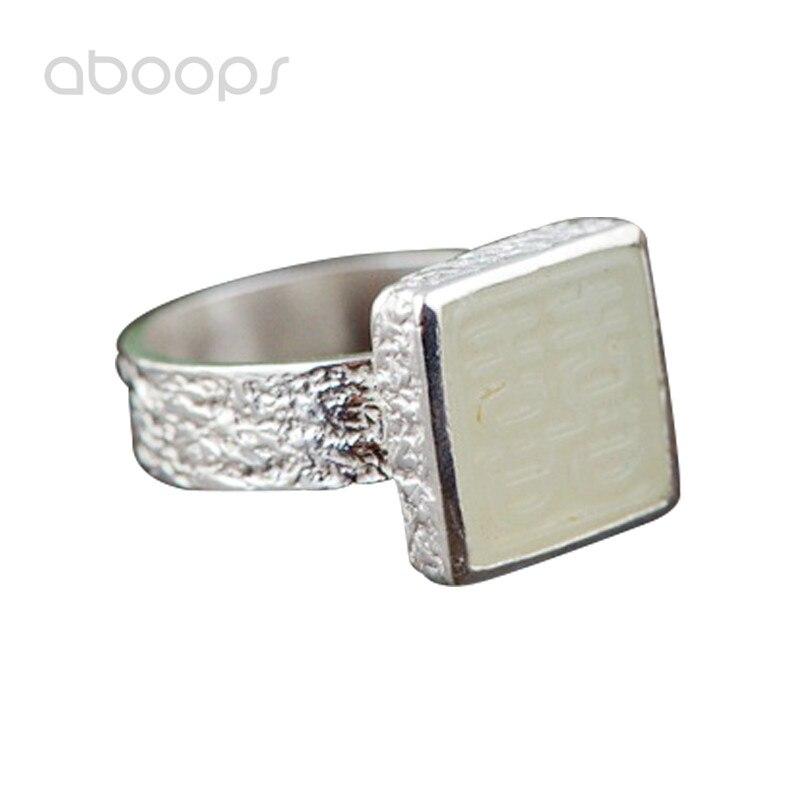 Plaine 925 en argent Sterling ovale chinois carré Double bonheur anneau pour femmes filles réglable livraison gratuite