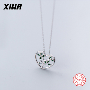 XIHA 925 Sterling Silver Choker Statment Necklaces for Women Heart Love Tree of Life Pendant Necklace valentine's day present