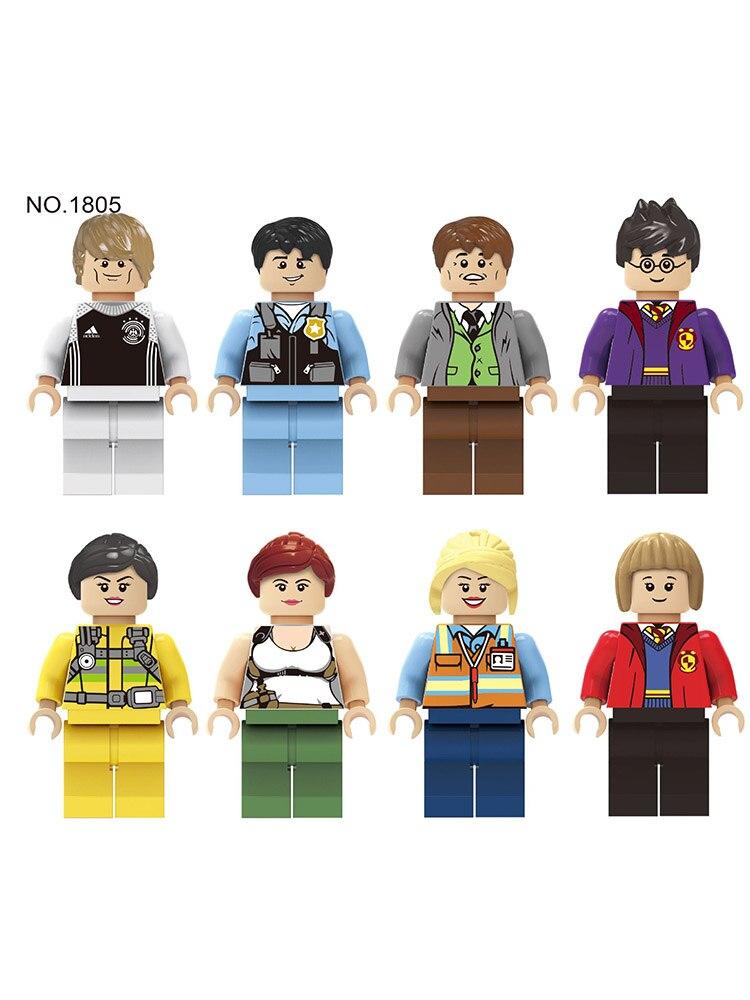 8pcs New Compatible LegoINGlys City Live Minifgure Bricks Building Blocks Girl Friends Mini Dolls Toys For Children Gift