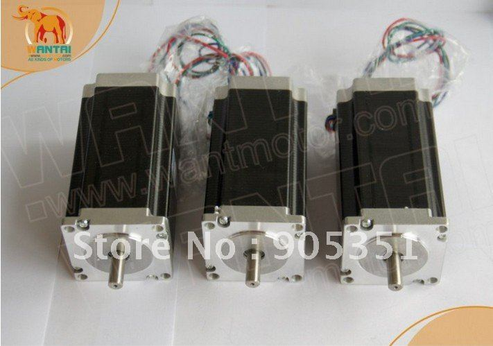 3 PCS High Nema 23 wantai Stepper Motor 425oz in 2 phase 57BYGH115 003B CNC Mill