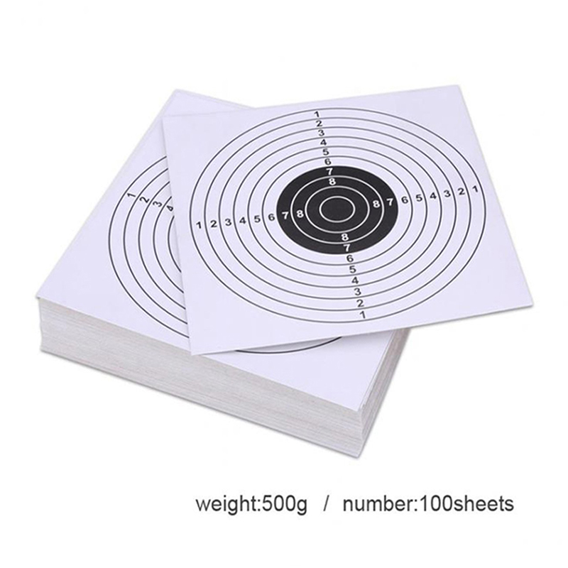 100 Pack Air Shot Paper Targets 5.5 X 5.5inch For Paintball And BB Gun Shooting