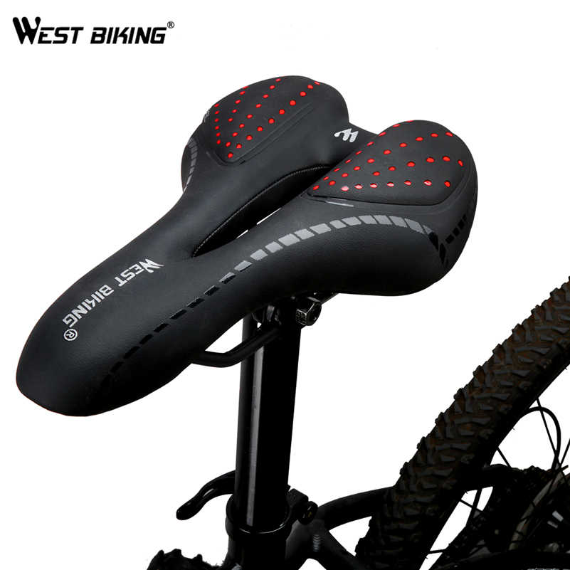Batı bisiklet bisiklet selesi silikon yastık PU deri yüzey silika dolu jel rahat bisiklet koltuk darbeye dayanıklı bisiklet eyer