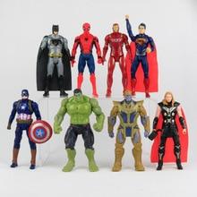 8st / Lot Movie Super Hero Series Captain America Thor Iron Man Spiderman Logan Iron Patriot PVC Action Figur Kids Toy Gif