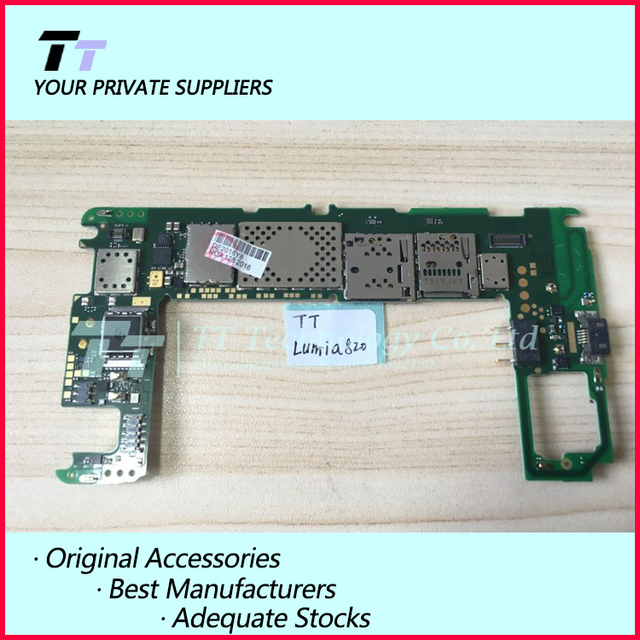 Abierto original motherboard placa lógica de trabajo para nokia lumia 820 con chips envío libre