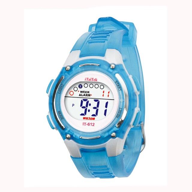 Bambini Delle Ragazze Dei Ragazzi di Nuoto di Sport Digitale Orologio Da Polso Impermeabile 342510