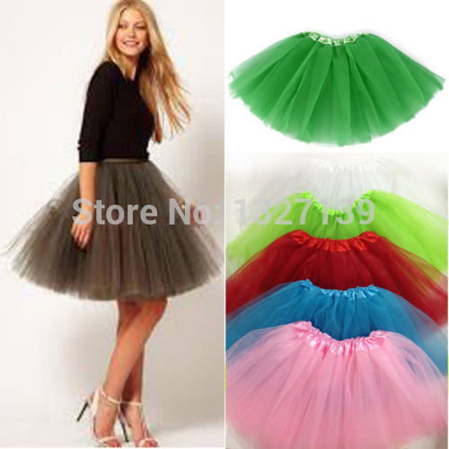 Arrival Women Girl Tulle Tutu Mini Organza 3 Layere Party Skirt Underskirt