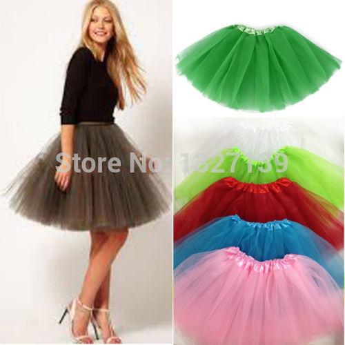 Arrival Women Girl Tulle Tutu Mini Organza 3 Layere Party Skirt Underskirt