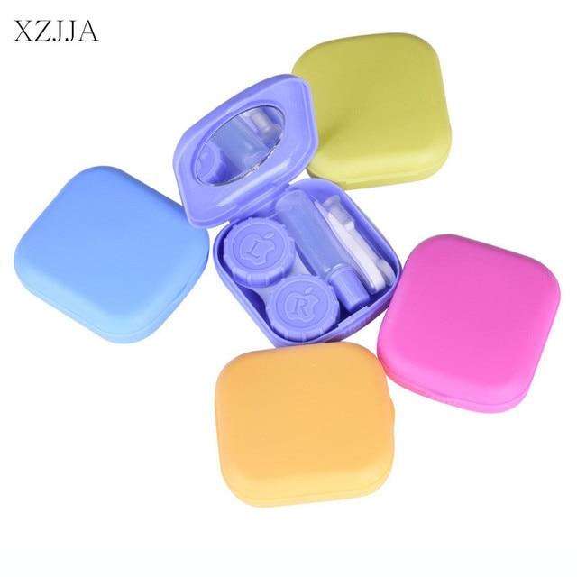 XZJJA Candy Color Contact Lenses Storage Box Cute Contact lens Case Box Eyes Care Kit Holder  sc 1 st  AliExpress.com & XZJJA Candy Color Contact Lenses Storage Box Cute Contact lens Case ...