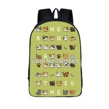 Pusheen Cat / Neko Atsume Backpack For Teenagers Girls Cat Backyard School Bags Daily Backpack Cartoon School Backpacks Kids Bag
