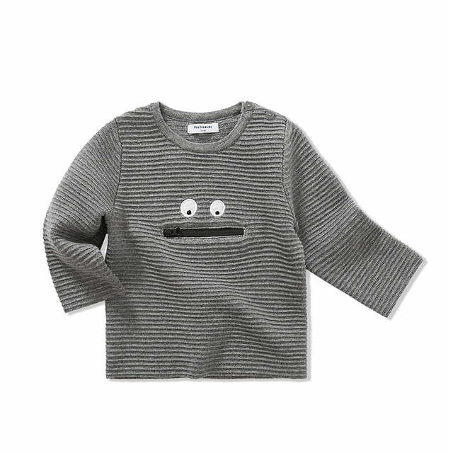 Baby Graphic Ribbed Knit Sweater