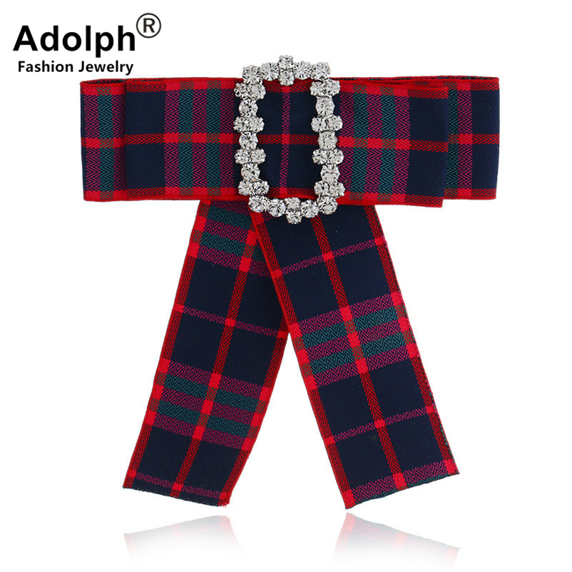 ADOLPH Star Bow Crystal Square Brooch Pins Woman Jewelry Scarf Cloth Handmade Dress Bride Broochs Fashion Accessories Female Hot