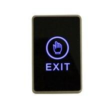 Синяя подсветка сенсорная кнопка выхода инфракрасный бесконтактный переключатель двери для системы контроля доступа