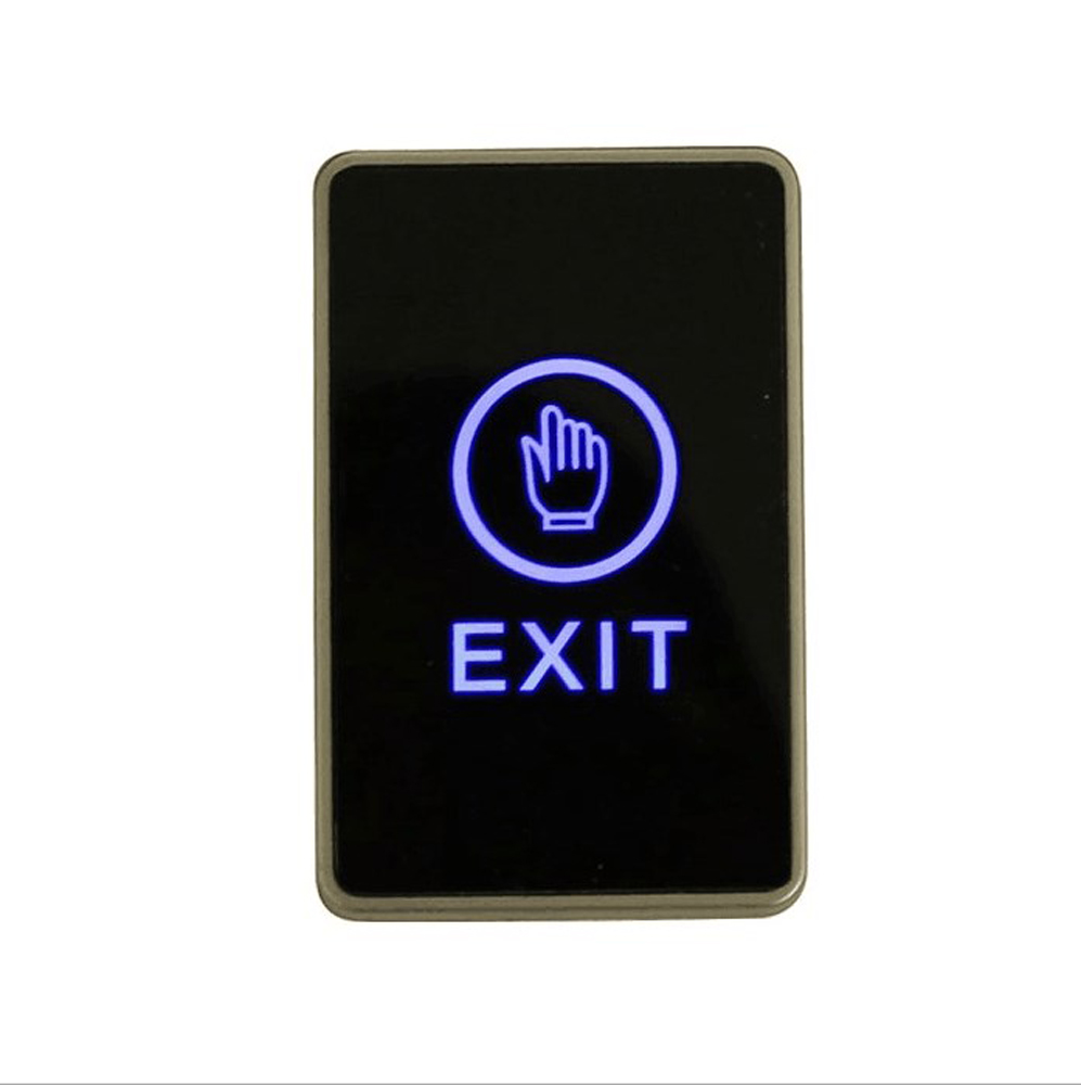 Bule Backlight Touch Exit Button Infrared Contactless Door Release Switch for Access Control System