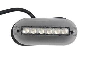 Image 2 - 12 V مركبة بحرية LED مصباح تحت الماء 6LED السباحة بركة بركة مصباح بعمود الأحمر/الأزرق/الأخضر/الأبيض