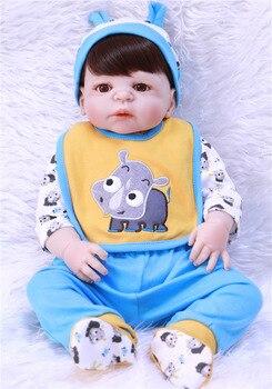 doll bebe reborn boy 55cm  Full Silicone Body Reborn Baby Dolls  Newborn Babies boneca Fashion Birthday Gift Kids Toys