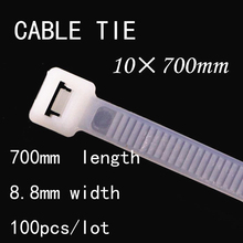 100pcs/lot 10*700mm National Standard 8.8mm Width White/Black Fixed Wire Harness Pedestal