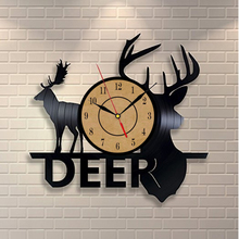 2018 New  Vinyl Record Wall Clock Animal Deer Wall Watch Home Decor Classic Clock Relogio Parede