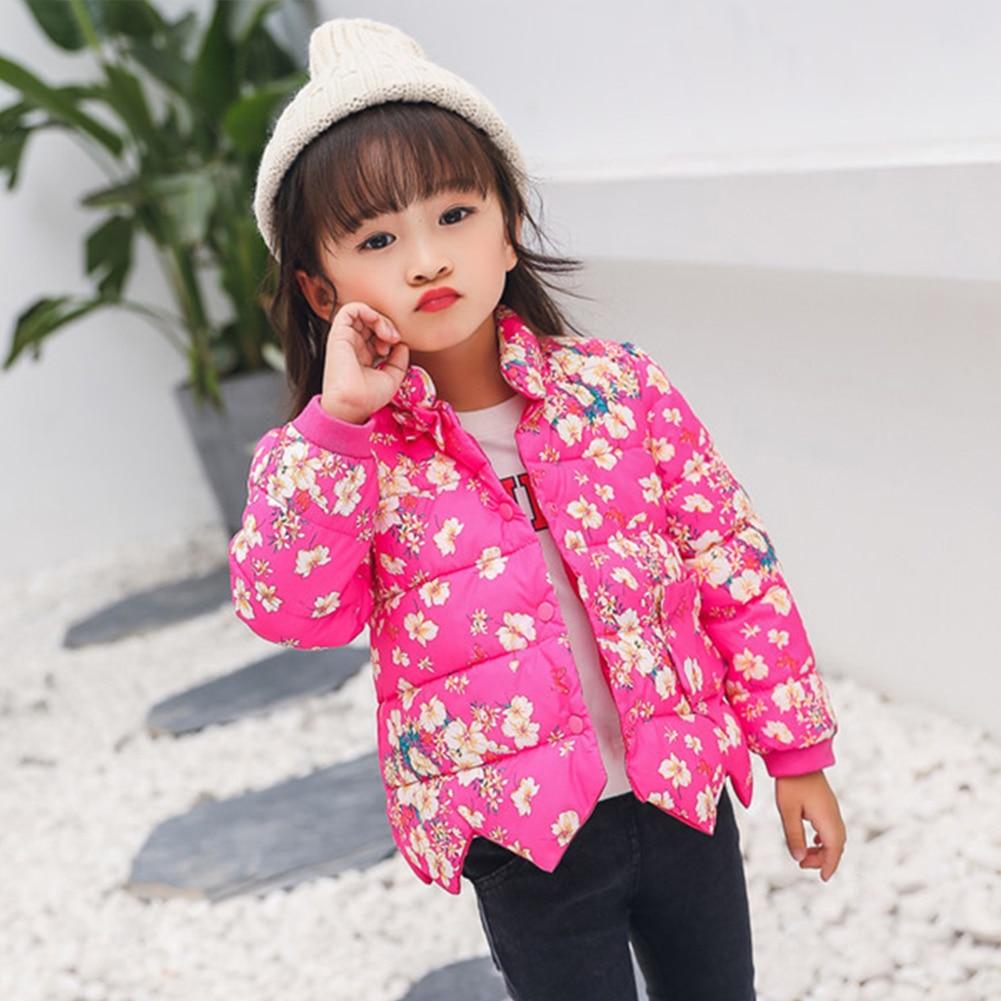 Ausdauernd Winter Kinder Mädchen Drucken Unten Jacke Baby Mädchen Kinder Warme Mantel