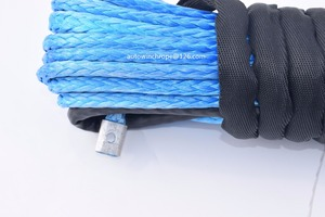 Image 3 - Free Shipping 10mm*26m Blue Synthetic Winch Cable,Rope for Electric Winches,Off Road Rope,Plasma Winch Cable