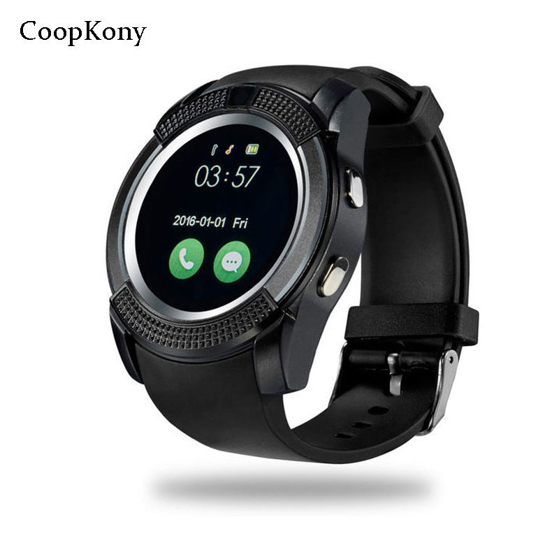 Coopkony Smart Watches Call Massage Reminder 1.2 inch Round Smartwatch Bluetooth Smartwatch Wristwatch SIM TF Phone Watches