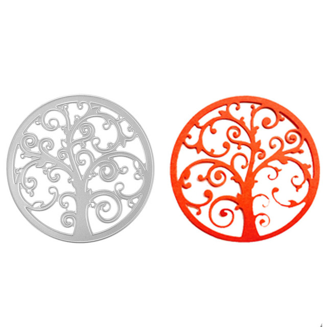 Modern Tree Of Life Pattern Cutting Dies Stencil Template For DIY Enchanting Tree Of Life Pattern