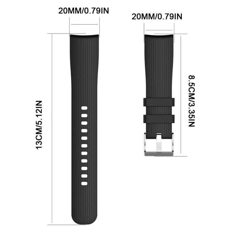 Universal-20mm-Watch-Strap-Band-Silicone-For-Samsung-Galaxy-Watch-Huami-Amazfit-Bip-Gear-S2-Classic (2)