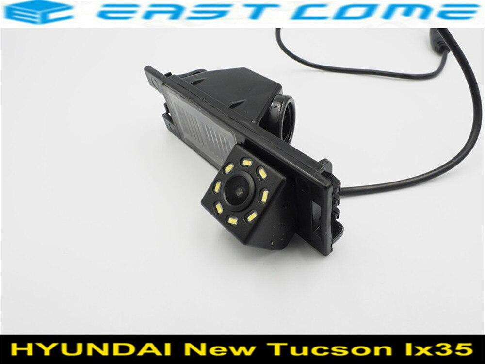 170 Graus Lente IX35 8LED Câmara de visão Traseira para Hyundai New Tucson 2006 2007 2008 2009 2010 2011 2012 2013 2014 Câmera Reversa
