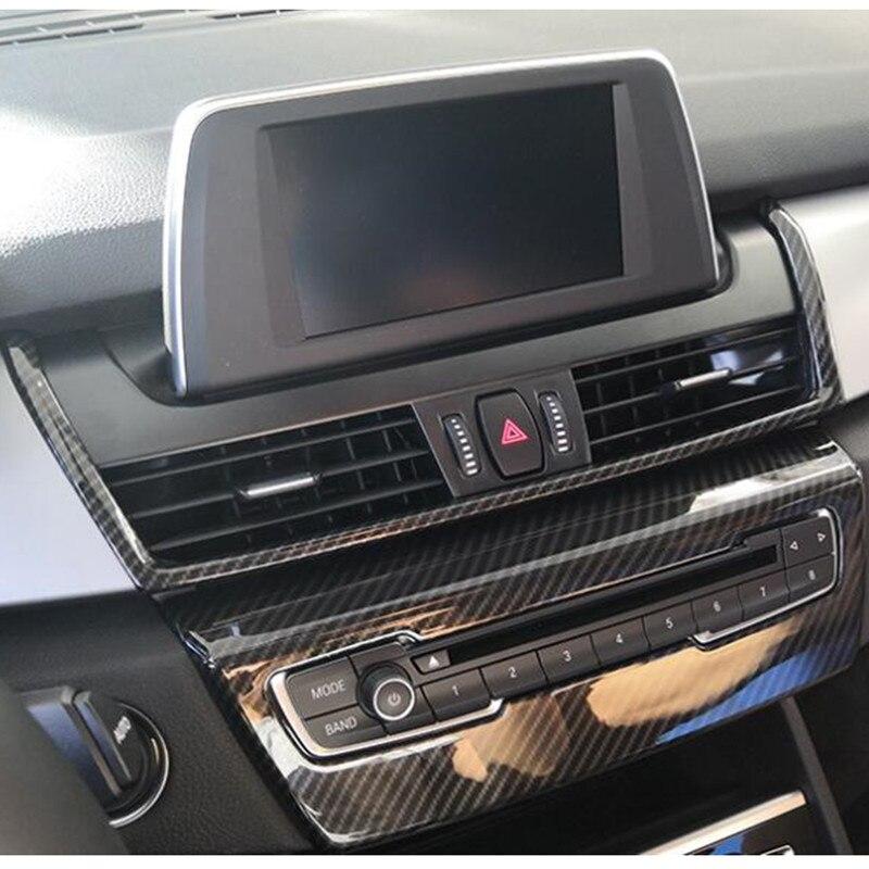Bmw 2 Series Interior: Carbon Fiber Black Color Center Console Air Outlet Frame