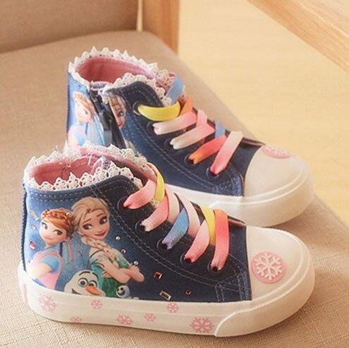 Anna Elsa tennis caricature Chaussures Toddler Sports Bottes Enfants Baskets