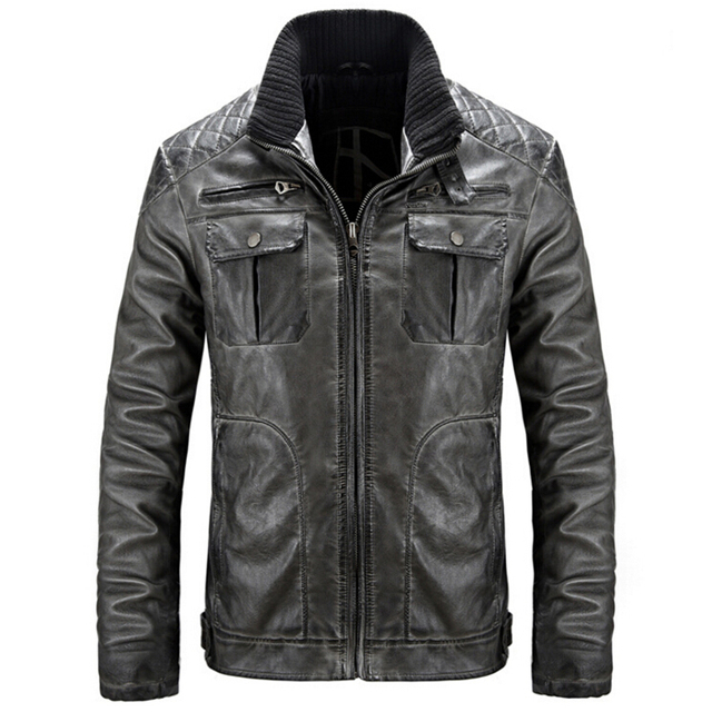 Leather Jacket Men Motorcycle Leather jackets jaqueta de couro masculina Punk Veste Homme Coat Plus size 3XL bomber jacket