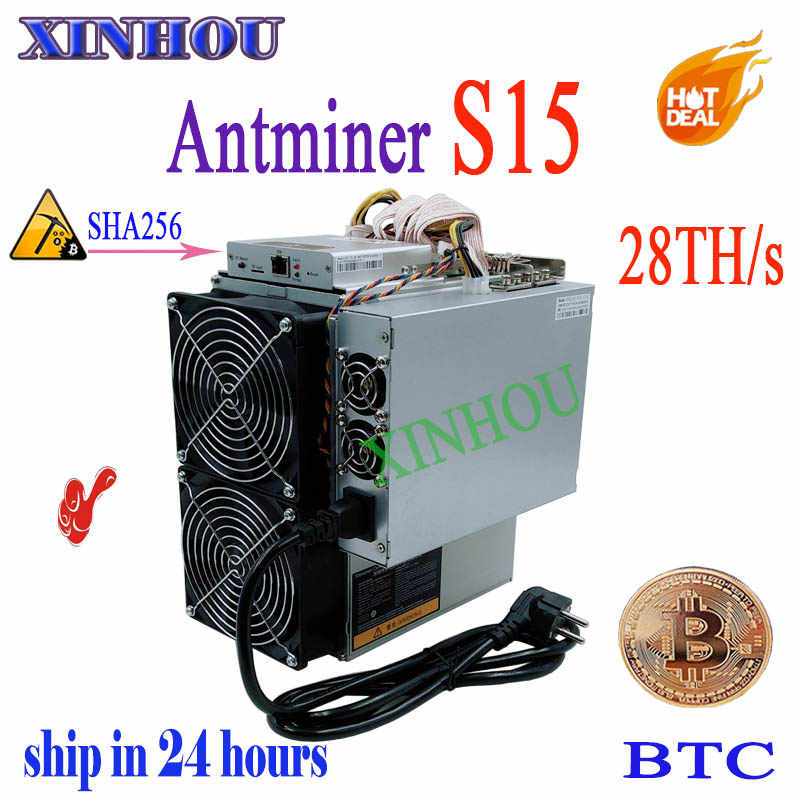 Новейшая модель; BTC BCH 7nm Asic Майнер AntMiner S15 28Т SHA256 Шахтер лучше, чем BITMAIN S9 Z9mini DR3 WhatsMiner M3 M10 Innosilicon A9