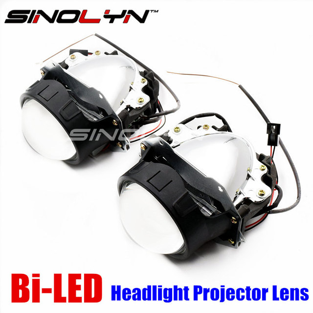 Sinolyn Car Bi Led Projector Lens Headlight Retrofit Diy High Power