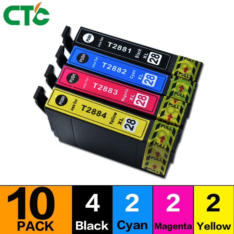 10Pack Replacement for T288XL Ink Cartridge Used in Expression Home XP-330 XP-430 XP-434 XP-340 XP-440 Printer
