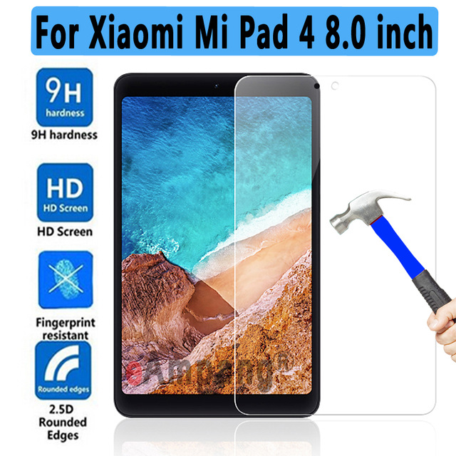 2018 Tablet Protective Screen Protector Film 1 Mi Pad 2 Pad2 Pad3 Mi Pad4 Tablet 8 0 10 1 inch Tempered Glass For Xiaomi Mipad in Tablet Screen Protectors from Computer Office
