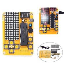 DIY Kit игровой комплект творческий электроники эксперимент комплект для тетрис/змея/самолет/Гонки MCU компьютерная игра машины матричный 16*8