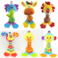 22cm Rattles Kids Toys Chidren's Baby Toys stuffed animal plush toys baby teether hanging strollers bb sound toys infant gift
