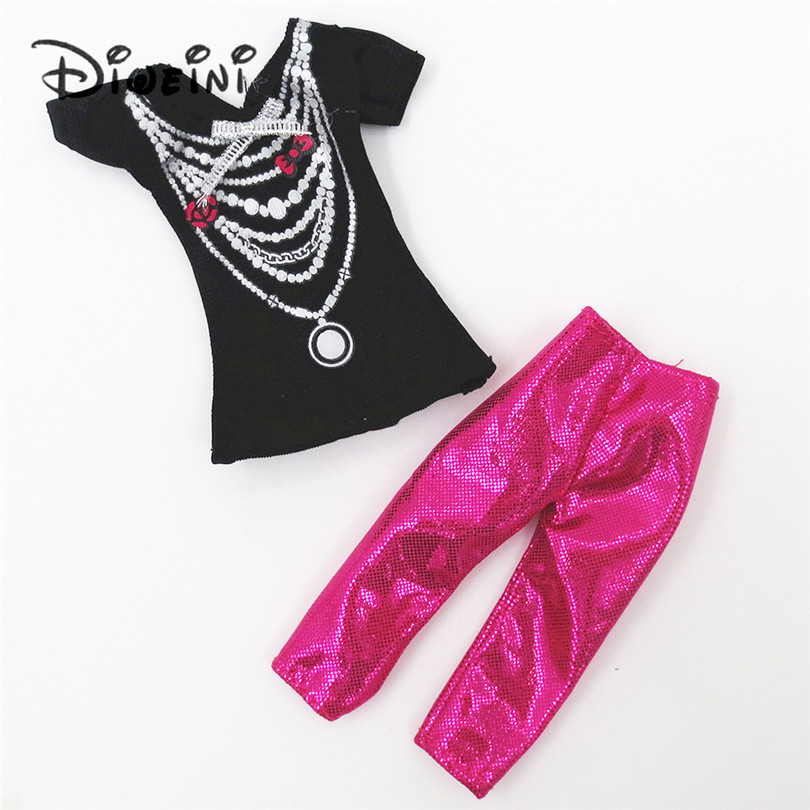 One set Clothing for Barbie Doll for girls High Quality Fashion Baby Girls Handmade Clothes Accessories Outfit for Barbie Doll