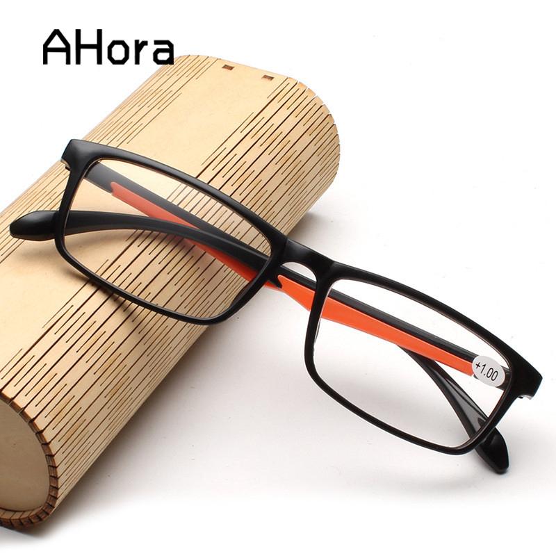 Ahora Women Men Reading Glasses TR90 Ultralight Retro Resin Clear Lens Female Male Reader Eyewear Presbyopic Glasses
