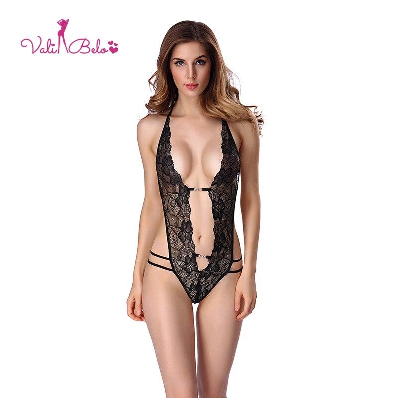 Neue sexuelle heißer und sexy onesies frauen unterwäsche backless tiefe V öffnen brust spitze stoff Teddies & body körper spaß pyjamas