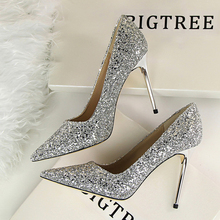Купить с кэшбэком New Fashion Women High Heels Shallow Stiletto Wedding/Party Lady Pumps Spring/Summer Sandals Classic Female Shoes Woman Footwear