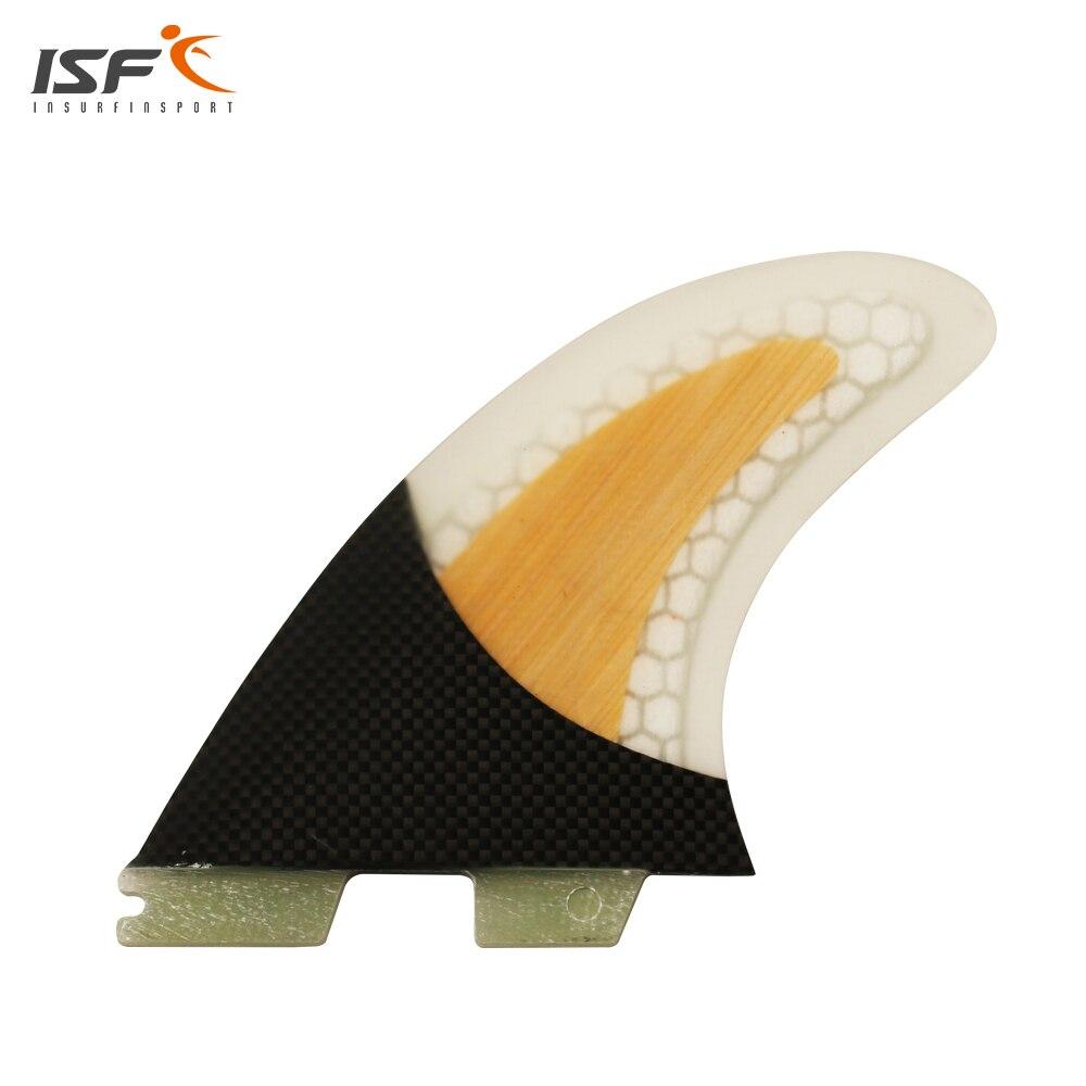 Бесплатная доставка ФТС Плавники углеродного волокна соты бамбуковое плавники серфинга FCS 2 thruster barbatanas de Surf доски для серфинга SUP плавники