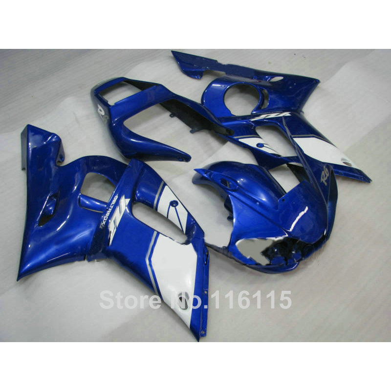 Free customize fairing kit for YAMAHA R6 1998 1999 2000 2001 2002 YZF-R6 blue white YZF R6 fairings set 98-01 02 NX44 yamaha nx b55 titan
