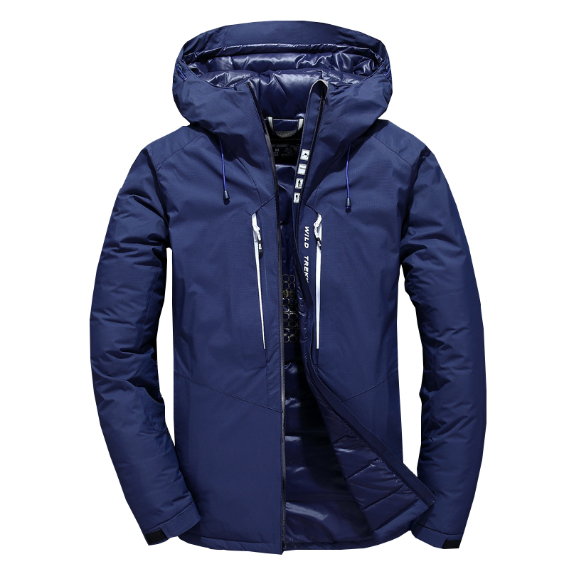 New White duck Down Jacket Men Winter wild trekking Warm Hood Detached Caulking Waterproof duck down parka coat Plus Size 3XL все цены