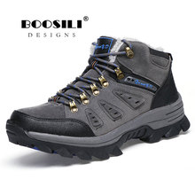 Botas Hombre Masculina 2019 New Men Boots Anti-skidding Winter Shoes Plush Warm Plus Size 36-47 High Quality Discount